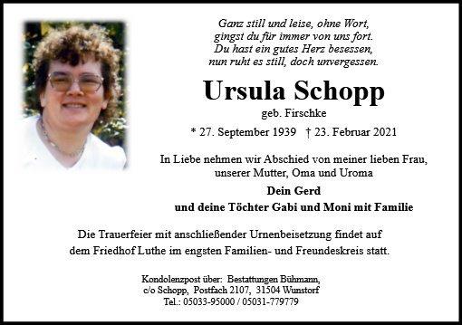 Profilbild von Ursula Schopp